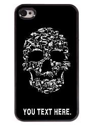 gepersonaliseerde geval schedel ontwerp metalen behuizing voor de iPhone 4 / 4s