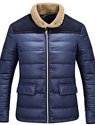 Men's Regular Down Coat , Others/Polyester Long Sleeve