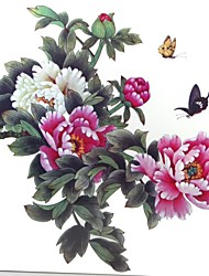 1 Pcs Waterproof Multicolored Color Peony Flower Series  Butterfly Enlarge Pattern  Tattoo Stickers