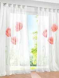 Hot Handmade Inkjet Sheer Voile Window Screens  Living Room Curtain  Purple Rust-Red Yellow  2PCS