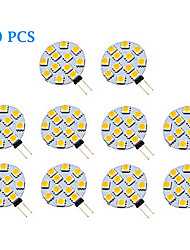 1.5W G4 Spot LED 12 SMD 5050 70 lm Blanc Chaud / Blanc Froid AC 12 V 10 pièces