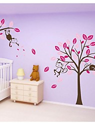 stickers muraux stickers muraux, un grand arbre avec sticker mural PVC de singe