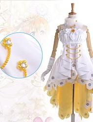 Inspired by Love Live Honoka Kōsaka Anime Cosplay Costumes Dresses Patchwork White SleevelessDress / Collar / Gloves / Leg Warmers / More