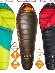 HIGHROCK Outdoor -10 Celsius Degree Coffee&Black&Green Color Winter Mummy Duck Down Adult Sleeping Bag