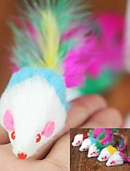 Cat Pet Toys Teaser / Feather Toy Mouse Random Color Textile