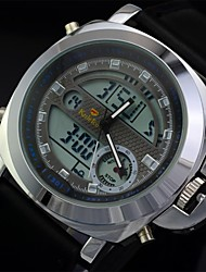 Men's Fashion Leather Strap Multifunctional Digital Quartz Military Sports Watches(Assoted Colors)