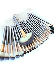 Professional Brush Set with 24Pcs Brushes and White Bag