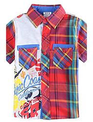 shirts voor kinderen t-shirt zomer nieuwe modemerk jongen plaid shirt voor kinderen jongens tees