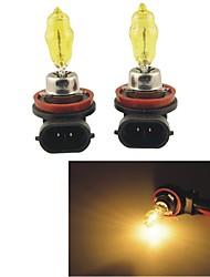 Carking™ HOD H8 100W 2800K Ultra Bright Car Yellow Light Bulbs (DC 12V/Pair)