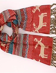 Women's Deer Printed Warm Cashmere Scarf(More Colors)