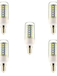 5 pcs E14 / G9 / E26/E27 10W 48 SMD 5730 1000 LM Warm White / Natural White T LED Corn Lights AC 220-240 V