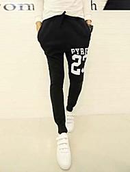 outono coreano Haren Masculino Movimento impressão novos pés magros calças