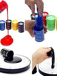 1PCS Mini Emulational Recyclable Paint Bucket Pot Stress Reliever Practical Joke Gadgets(Random Color)