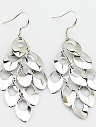 Drop Earrings Jewelry Women Sterling Silver 2pcs Silver White