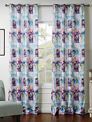 (Two Panels) Realistic Figure Drawing Pattern  Curtain