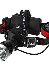 Lights Headlamps LED 1200 Lumens Mode Cree XM-L T6 18650 / AAA Waterproof / Impact Resistant / Strike Bezel / Emergency