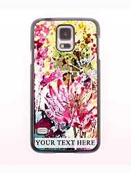 Personalized Phone Case - Watercolor Flowers Design Metal Case for Samsung Galaxy S5 mini