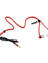 Chained Style Portable 3.5mm In-ear Earphone with Microphone for Smart Phones(Red)