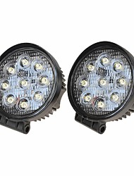 "KAWELL® 2 Pack 4.2"" 27W Round Thin Type LED for boat/suv/truck/atvs/fishing Driving light Off Road Led Flood Work Light."