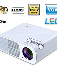 LED 3D Home Theater Business Projector 3000 Lumens 1280x800 16:9 1080p VGA USB SD HDMI Input