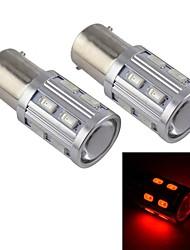 16w e10 voiture de LED haute puissance feu de brouillard, 16LED, DC12V, 80lm, conservation de l'énergie, protection de l'environnement (rouge)