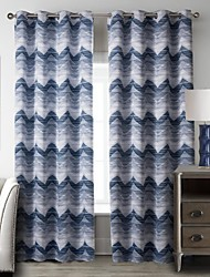 um painel europeu da listra azul cortinas opacas de poliéster cortinas quarto