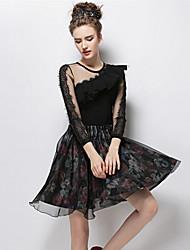 O  M  G  Women's New Fashion Lace Long Sleeve Bottoming T-shirt