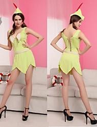 robin hood verde fluorescente del traje del carnaval de vestir de las mujeres