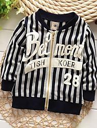 Boy's Cotton Blend Jacket & Coat,Winter / Spring / Fall Striped