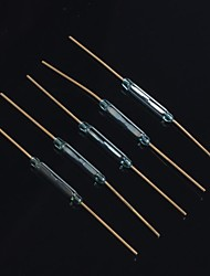 2*14mm Reed Magnetic Switch Glass Body Axial Mounting(5Pcs)