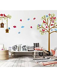 Stickers muraux Stickers muraux, style mignon petit oiseau nid pvc stickers muraux