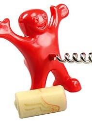 glücklicher Mann frechen Neuheit großes Geschenk Wein Flaschenöffner 9.5 * 8.5 * 5,5 cm (3,74 * 3,35 * 2,17 inch)
