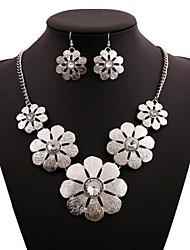 damesmode bloemen legering sieraden set