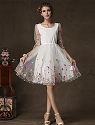 Zha.Mi   Women's Fashion European All Match Long Sleeve Dress
