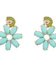 europäischen Stil Straße Shooting Flut retro Blume Ohrringe (weitere Farben)