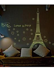 lumineux Stickers muraux stickers muraux, le style aime à Paris muraux PVC autocollants