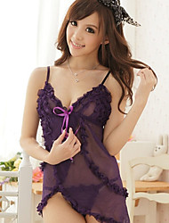 Women's Sexy Lovely Sheer Folded Nightwear