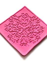 dentelles gaufrage meurt gâteau fondant au chocolat silicone pad de moule, outils petit gâteau de décoration, l6cm * * w6cm h0.3cm