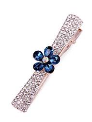 yl Schmuck der Frau Mode blauen Blattkristallhaarn