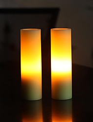 Home Impressions™ 1-3/4x6 Inch Smooth Flameless Real Wax Votive Led Candle,pack of 2