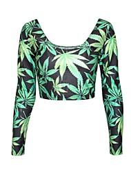 Frauendruck weise dünner Langarm T-Shirt