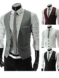 PROMOTION Men's Slim Fit Fashion  v-neck Single-breasted Gentleman Waistcoat