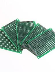 doppia faccia passo 2,54 mm pcb 4 x 6 centimetri protoboard - verde (5pcs)
