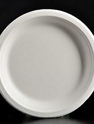 7 pollici rotonda monouso piatti di carta 50pcs / bag