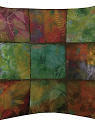 Colorful Blocks Velvet Decorative Pillow Cover