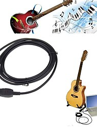 Neewer® NEW Guitar Bass To USB Link Cable adapter for PC/MAC Recording