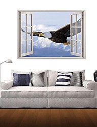 Adhesivos de pared pegatinas de pared 3d, águila volando pegatinas decoración de vinilo