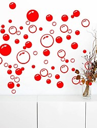 Wall Stickers Wall Decals, Cute Colorful PVC Removable the Beauty Red Bubble Wall Stickers.