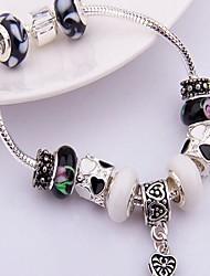 Beaded Bracelet Inlaid Stone Cylinder Glass Snake Bone Bracelet