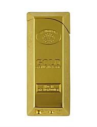 poco gas cuboide encendedor de oro
